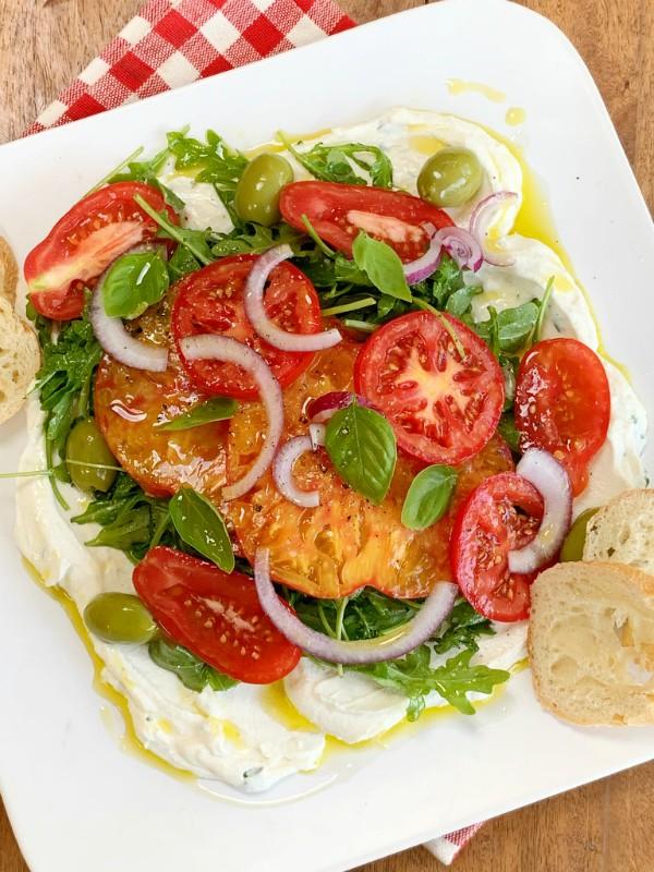 tomates et ricotta