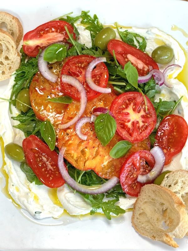 salade de ricotta fouettée