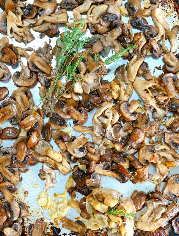 champignons rôtis