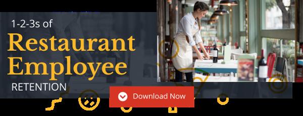 Les 1-2-3 de la feuille de conseils sur la rétention des employés du restaurant