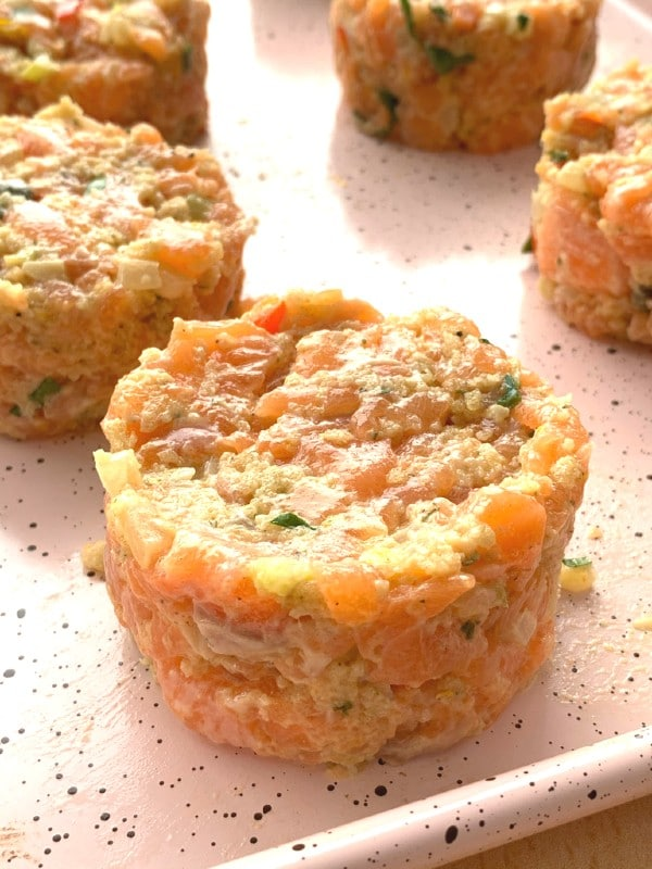 gâteau de saumon formé