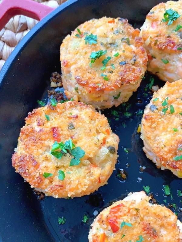 galettes de saumon cuit
