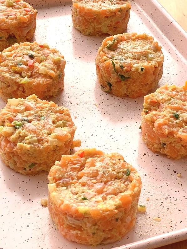 plateau de galettes de saumon
