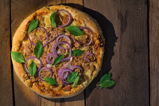 La pizza au thon et à l'oignon ... pas un choix populaire!