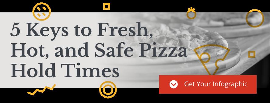 Temps de maintien de la pizza 5-clés-à-frais-chaud-sûr-sécuritaire